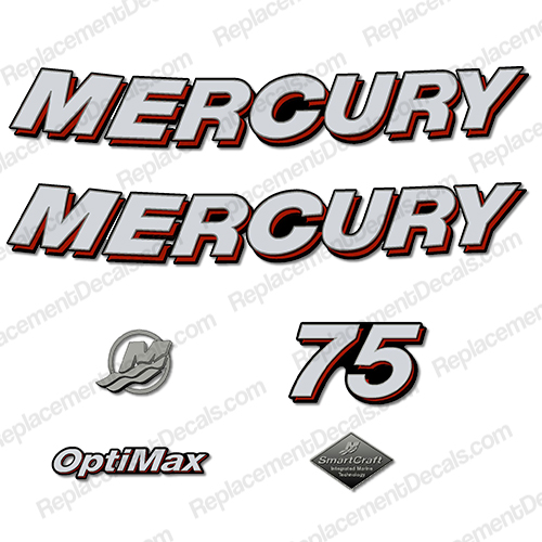 "Mercury 75hp ""Optimax"" Decals - 2006"
