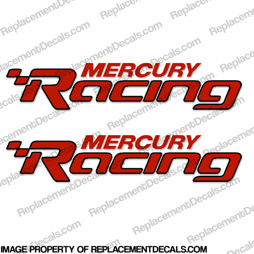 """Mercury Racing"" Logo Decals (Set of 2)"