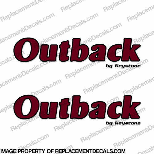 Outback by Keystone RV Decals (Set of 2) - 2 Color
