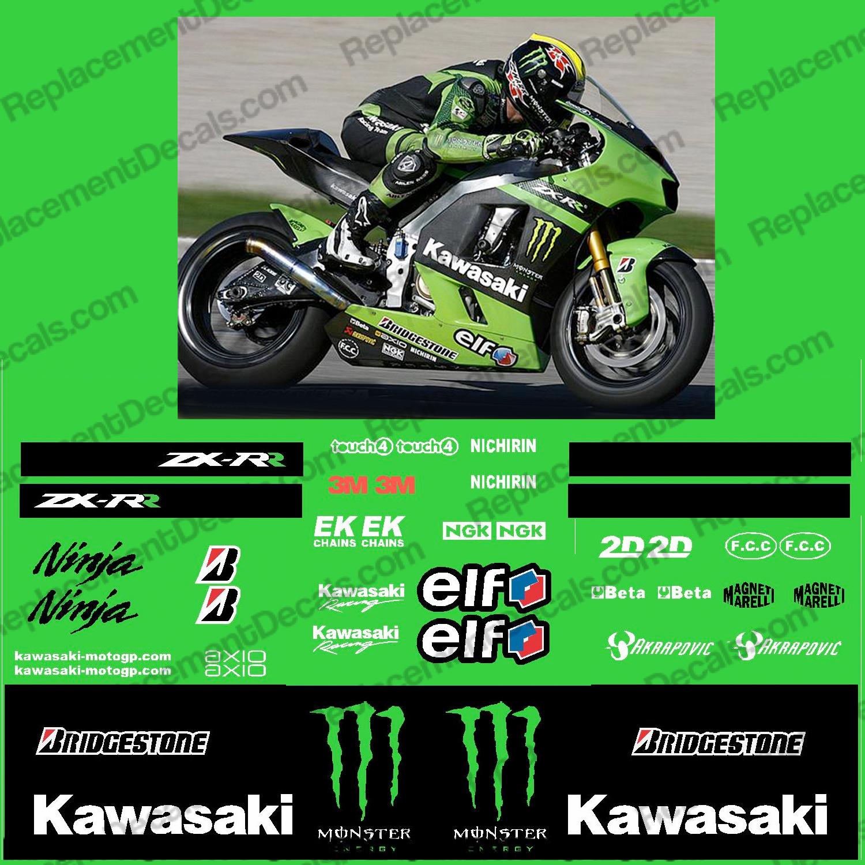 Kawasaki Kawasaki Zx Rr Monster Energy Race Decal Kit R