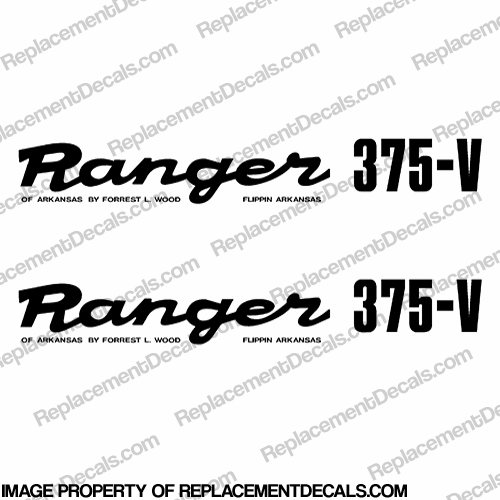 Ranger 375-V 1980&#39s Style Decals (Set of 2) - Any Color!