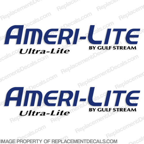 """Ameri-Lite Ultra-Lite"" by Gulfstream RV Decals (Set of 2) - 2 Color  ameri lite, ultra lite, ameri light, ultra light, ultra-lite, ameri-lite"