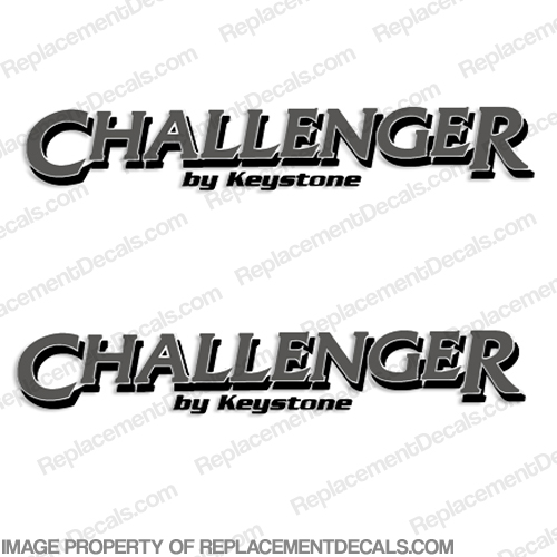 Challenger by Keystone RV Decals (Set of 2) - Style 1