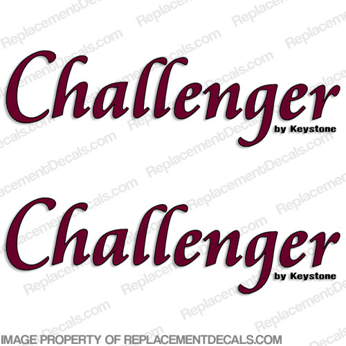 Challenger by Keystone RV Decals (Set of 2) - Style 2