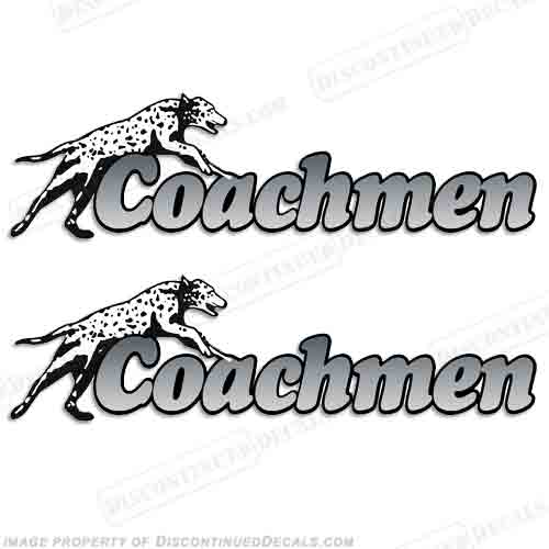 Coachmen RV Motorhome Decals (Set of 2) - Grey
