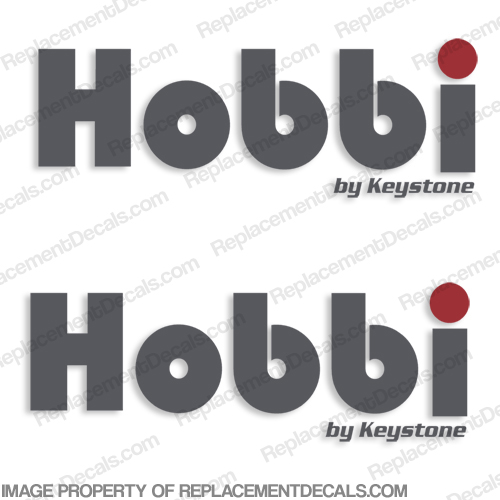 Hobbi by Keystone RV Decals (Set of 2)
