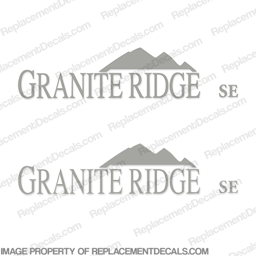 "Jayco ""Granite Ridge"" RV Decals - (Set of 2) Any Color!"