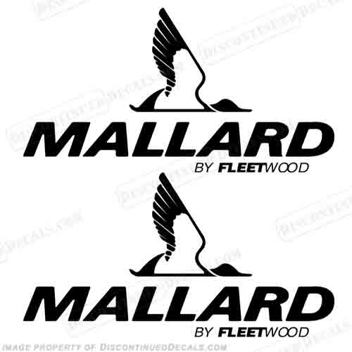 Mallard by Fleetwood RV Decals (Set of 2) - Any Color!
