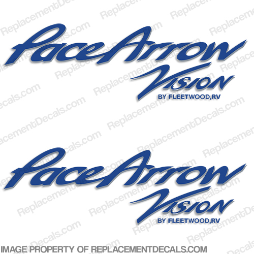 Pace Arrow Vision RV Decals (Set of 2) - Any Color!
