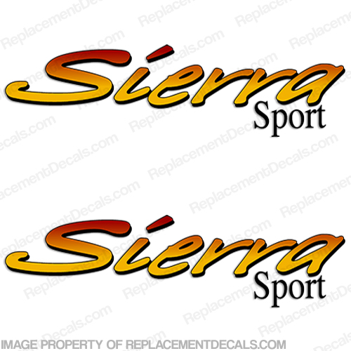 Sierra Sport by Forest River RV Toy Hauler Decals (Set of 2)