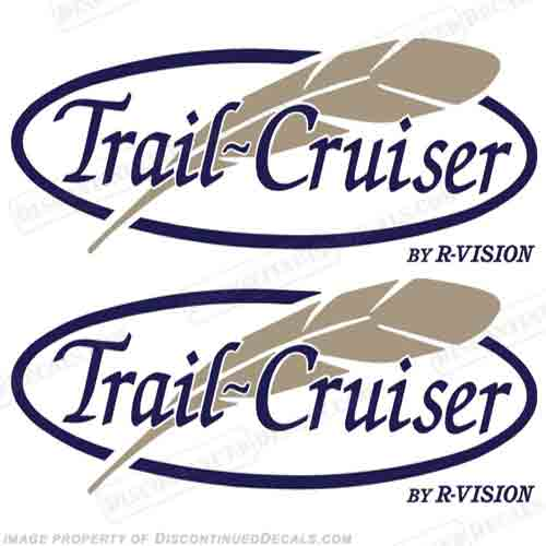 Trail Cruiser by R-Vision RV Decals (Set of 2)