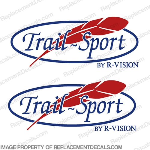 Trail Sport by R-Vision RV Decals (Set of 2)