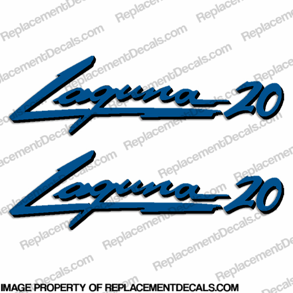 "Sea Ray ""Laguna 20"" Boat Decals - Set of 2"