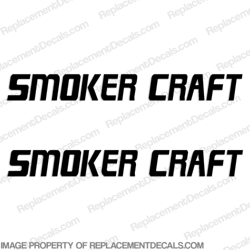 smoker craft boat logo decals set of 2