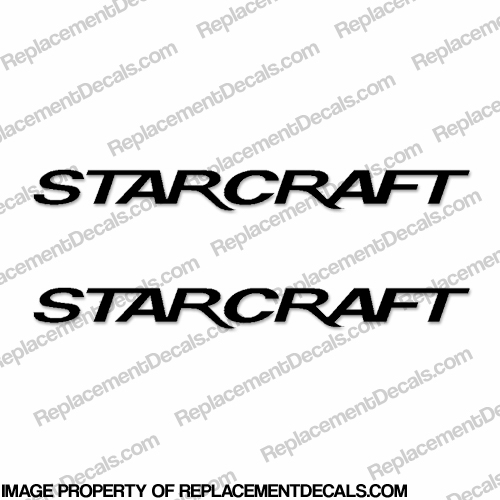 Starcraft Boat Logo Decals (Set of 2) - Style 2 - Any Color!