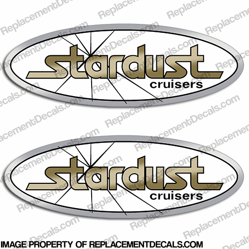 Stardust Cruisers Boat Decals (Set of 2)