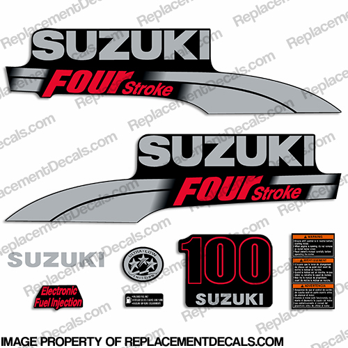 Suzuki 100hp DF100 Decal Kit - 2003 - 2009