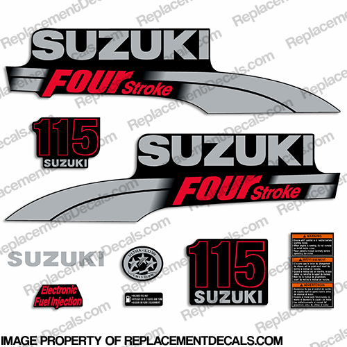Suzuki 115hp DF115 Decal Kit - 2003 - 2009