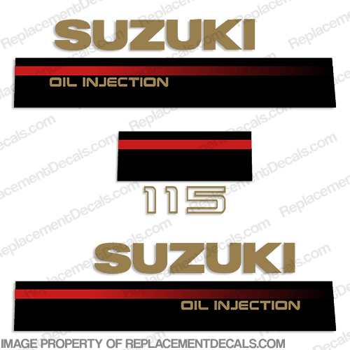Suzuki 115hp 2-Stroke Decal Kit - 1995 -1997