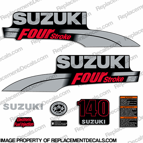 Suzuki 140hp DF140 Decal Kit - 2003 - 2009