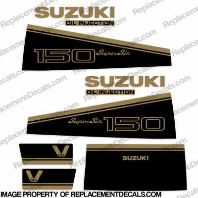Suzuki 150hp Decal Kit - 1988