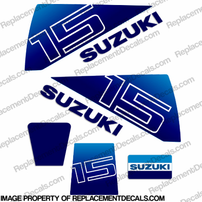 Suzuk 15hp DT15 Decal Kit - 1980&#39s