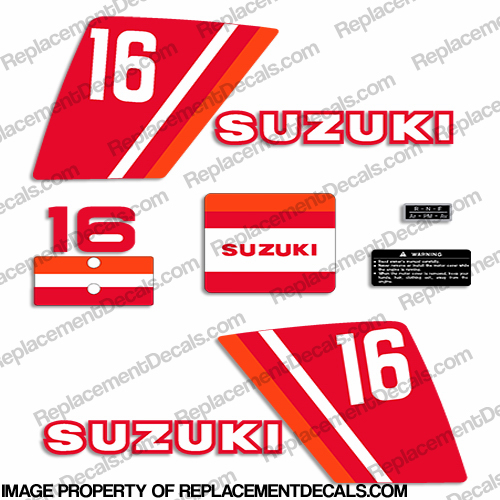 Suzuki 16hp (DT16) Decal Kit - 1970s