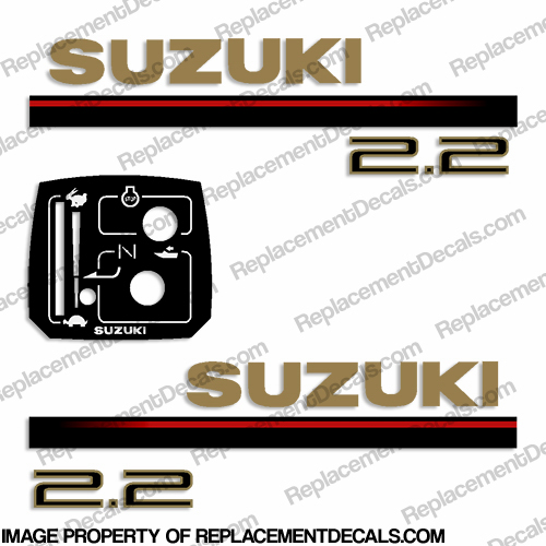 Suzuki 2.2hp Decal Kit - 1997