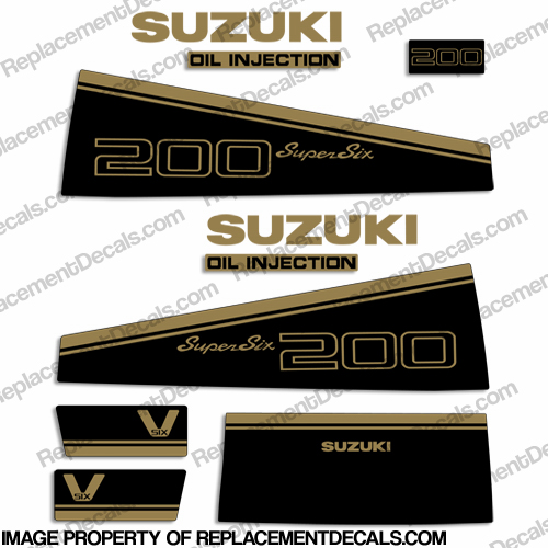 Suzuki 200hp Decal Kit - 1988