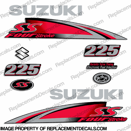 "Suzuki 225hp ""250SS"" Decal Kit - 2013+"