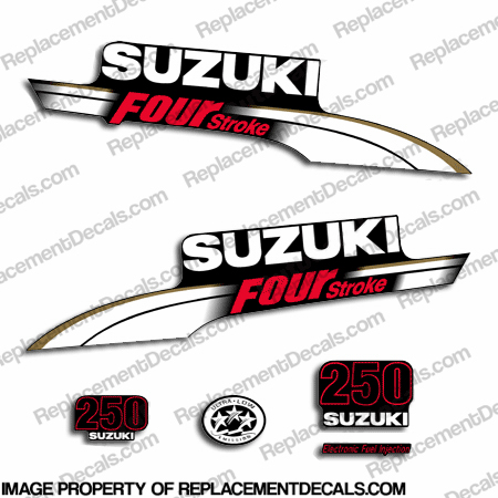 Suzuki 250hp DF250 Decal Kit - White