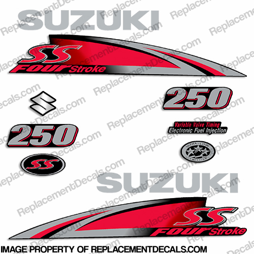 "Suzuki 250hp ""250SS"" Decal Kit - 2013+"