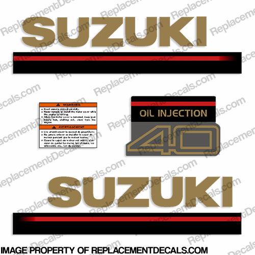 Suzuki 40hp 2-Stroke Decal Kit - 1995