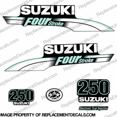 Suzuki 250hp DF250 FourStroke Decal Kit - Pale Green