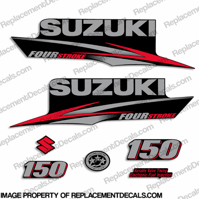 Suzuki 150hp DF150 Four Stroke Decal Kit - 2010 - 2013