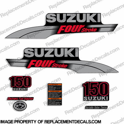 Suzuki 150hp DF150 Decal Kit - 2006 - 2009