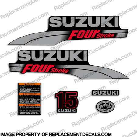 Suzuki 15hp DF15 Decal Kit