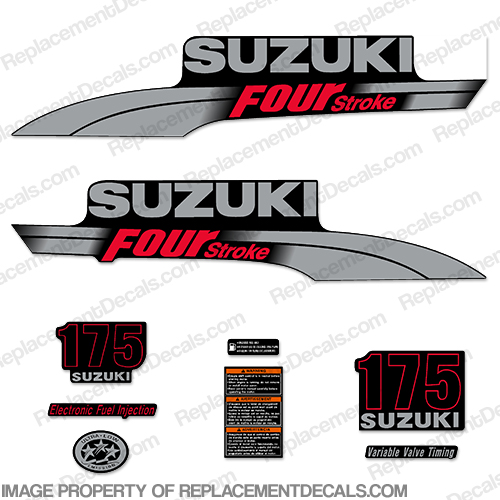 Suzuki 175hp DF175 Decal Kit - 2006 - 2009