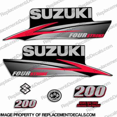 Suzuki 200hp DF200 FourStroke Decal Kit - 2010 - 2013