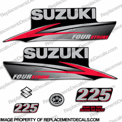 Suzuki 225hp DF225 FourStroke Decal Kit - 2010 - 2013