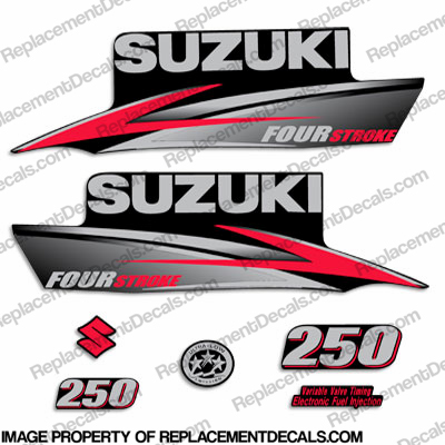 Suzuki 250hp DF250 FourStroke Decal Kit - 2010 - 2013