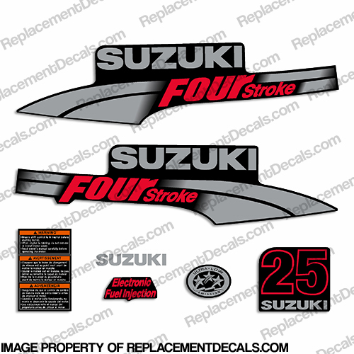 Suzuki 25hp DF25 Decal Kit