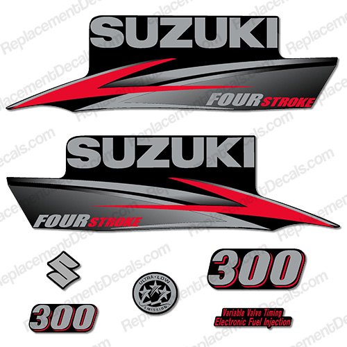 Suzuki 300hp DF300 FourStroke Decal Kit - 2010 - 2013