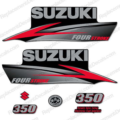 Suzuki 350hp DF350 FourStroke Decal Kit - 2010 - 2013