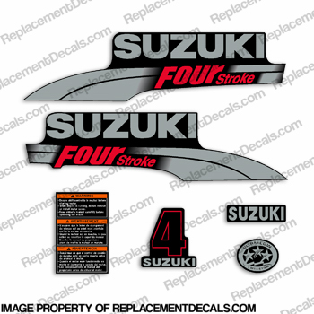 Suzuki 4hp DF4 Decal Kit
