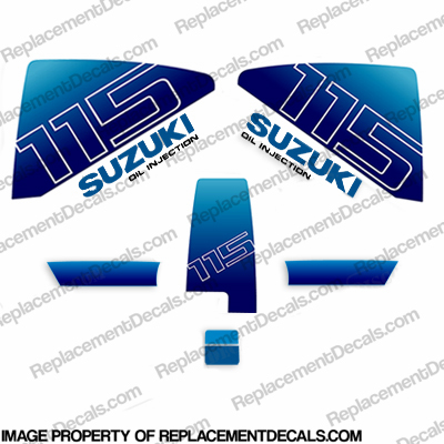 Suzuki 1985 115hp DT115 Decal Kit