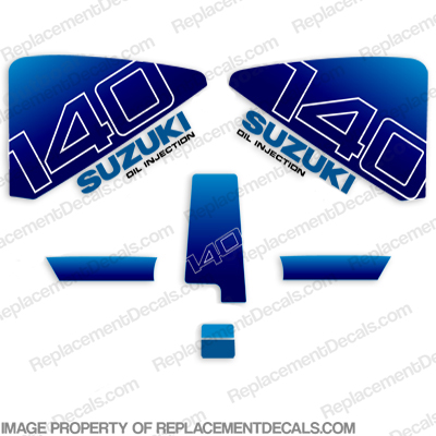Suzuki 1985 140hp DT140 Decal Kit