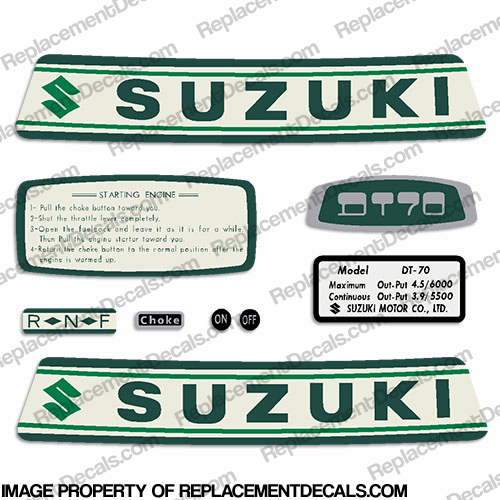 Suzuki 4.5hp DT70 Decal Kit - 1960&#39s - 1970&#39s
