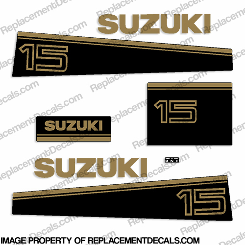 Suzuki 15hp Decal Kit - Late 80&#39s to Early 90&#39s