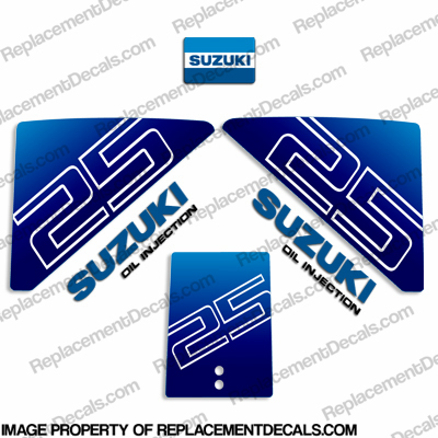 Suzuki 25hp Decal Kit - Early 1980&#39s